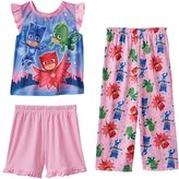 Toddler Girl PJ masks Catboy, Gekko & Owlette 3-pc. Pajama Set