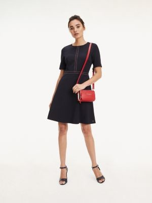 Tommy Hilfiger Stitch Detail Fit and Flare Dress