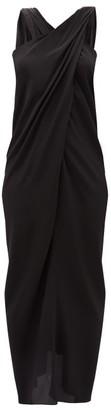 Thea - The Nyx Halterneck Silk Crepe De Chine Dress - Black