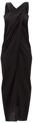 NYX Thea - The Halterneck Silk Crepe De Chine Dress - Womens - Black