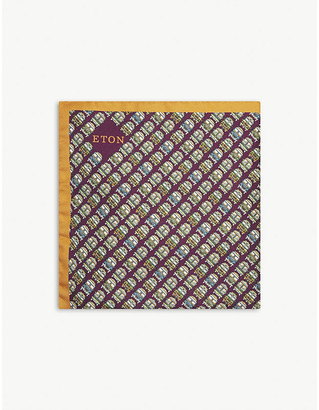 Eton Camper-van silk pocket square