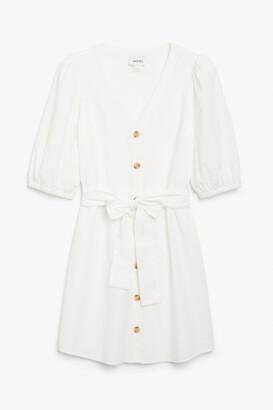 Monki Buttoned mini dress