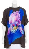 Givenchy Oversized Floral Print Top