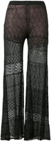 Circus Hotel lace detail flared pants - women - Silk/Cotton/Polyester/Viscose - 44