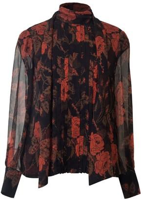 Diana Arno Lelia Silk Blouse In Thorny Roses
