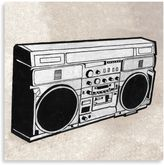 Bed Bath & Beyond Pop Culture Boombox Printed Canvas