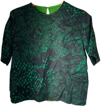 Preen Green Silk Tops