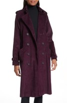 Rebecca Minkoff Women's Ferry Double Breasted Corduroy Trench Coat