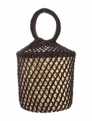 Sensi Straw Netted Bucket Bag