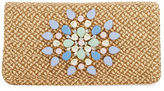 Eric Javits Devi Straw Embellished Clutch Bag