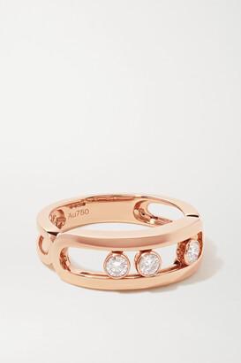 Messika Move Classic 18-karat Rose Gold Diamond Ring - 50