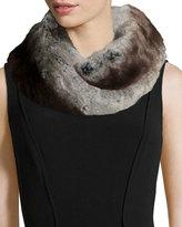 Neiman Marcus Faux-Fur Infinity Scarf, Gray