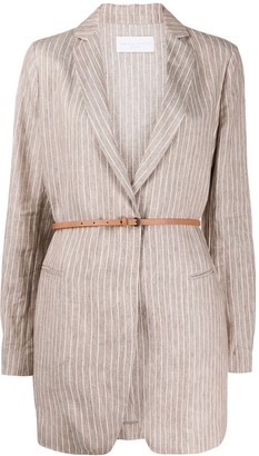 Fabiana Filippi Pinstriped Single Breasted Blazer