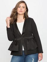 ELOQUII Plus Size Peplum Jacket