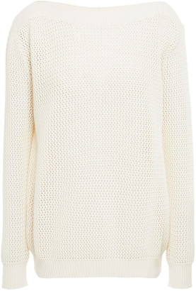 Nina Ricci Open-knit Cotton And Cashmere-blend Sweater