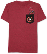 JEM Men's Deadpool Graphic-Print Pocket T-Shirt