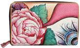 Anuschka Women's Twin-Zip Organizer Wallet - Rosy Reverie Credit Card Holders