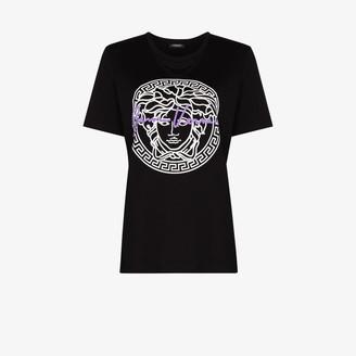 Versace Medusa print cotton T-shirt