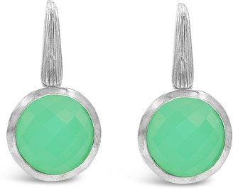 Ariva 7.00 cttw Chrysoprase Dangle Earrings, Sterling Silver