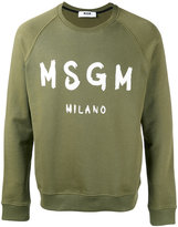 MSGM logo sweatshirt - men - Cotton - M