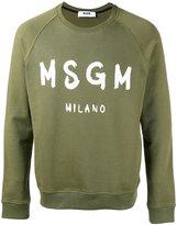 MSGM logo sweatshirt - men - Cotton - XL