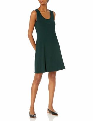 Daily Ritual Amazon Brand Women's Rayon Spandex Wide Rib Sleeveless Scoop-Neck T-Shirt Dress