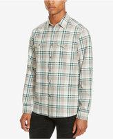 Kenneth Cole Men's Two Pocket Plaid Flannel Shirt