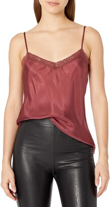 For Love and Liberty Women's Silk Slip with lace Detail