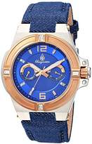 Burgmeister Women's Quartz Watch with Blue Dial Analogue Display and Blue Fabric and Canvas Bracelet BM220-933