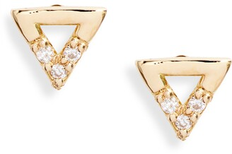 Bony Levy Simple Obsession Petite Triangle Stud Earrings