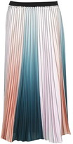 Ted Baker Pleated Stripe Midi Skirt