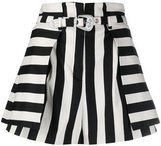 Pinko Striped Flared Shorts