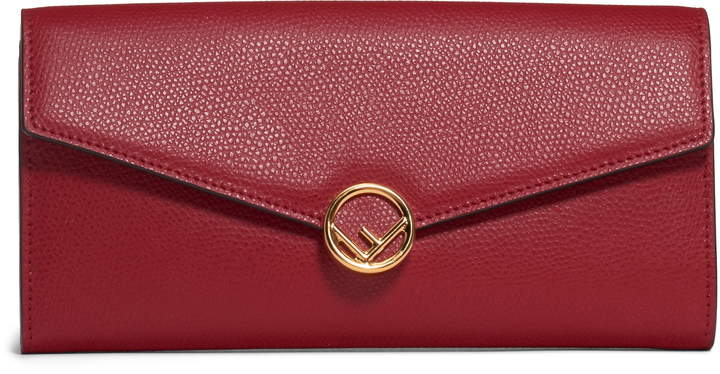 31575a0c32 Logo Calfskin Leather Continental Wallet on a Chain
