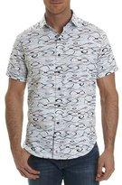 Robert Graham Illusions Wavy-Print Short-Sleeve Sport Shirt