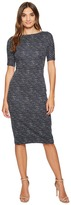 Maggy London Brushed Abstract Jacquard Sheath Women's Dress