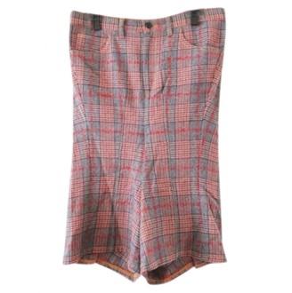 Junya Watanabe Pink Wool Trousers