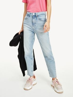 Tommy Hilfiger Mom Tapered Faded High Rise Jeans