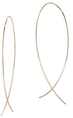Lana 14K Yellow Gold Large Wire Upside Down Hoops