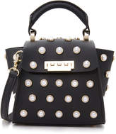 Zac Posen Eartha Imitation Pearl Top Handle Mini Cross Body Bag