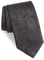 David Donahue Men's Paisley Silk Tie