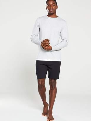 Very Rib Mock Hem T-Shirt - Light Grey