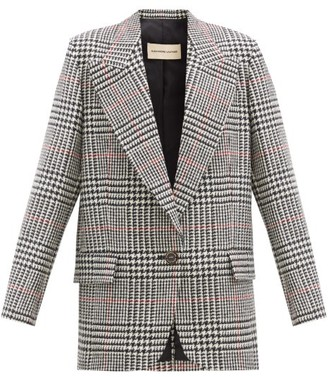 Alexandre Vauthier Prince-of-wales-checked Wool Jacket - Black