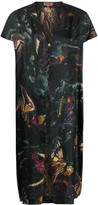 Romeo Gigli Pre Owned 1990s angel print maxi top