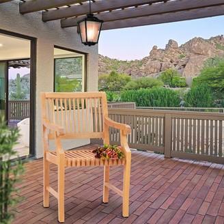 Chic Teak Castle Teak Wood Indoor/ Outdoor Dining Arm Chair