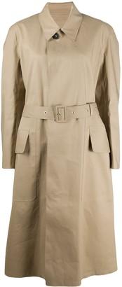 Maison Margiela Eyelet-Detailing Long Trench Coat