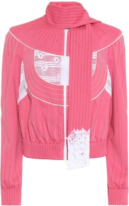 Valentino Techno jersey jacket