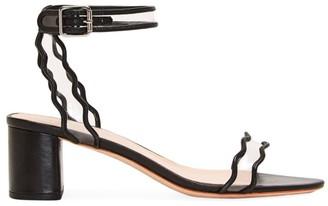 Loeffler Randall Emi Scallop Leather & PVC Sandals