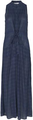 MUNTHE Indigo Viscose Dash Dress - 34 - Blue