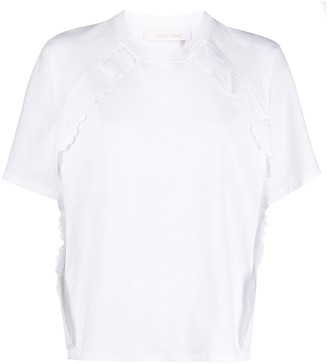 See by Chloe scalloped edge T-shirt