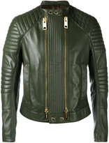 Les Hommes biker jacket - men - Lamb Skin/Acetate - 50